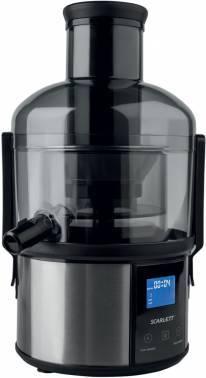 Соковыжималка Scarlett SC-JE50S31 вишневый/черный, центробежная, мощность 1000Вт, резервуар для сока 1100мл