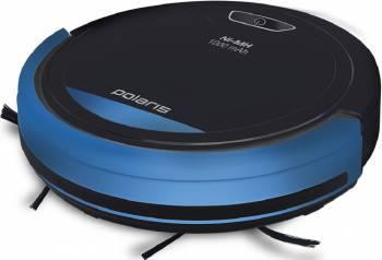 Робот-пылесос Polaris PVCR 0410 черный/синий, мощность 14.4Вт, уборка: сухая, объем пылесборника 0.2л