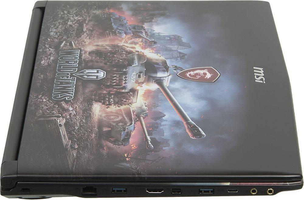 """Ноутбук 15.6"""" MSI GP62M 7RDX(WOT Edition)-2097XRU черный (9S7-16J9E2-2097) - фото 5"""