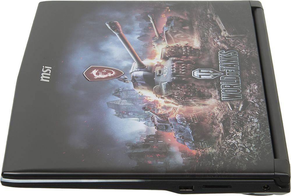 """Ноутбук 15.6"""" MSI GP62M 7RDX(WOT Edition)-2097XRU черный (9S7-16J9E2-2097) - фото 6"""