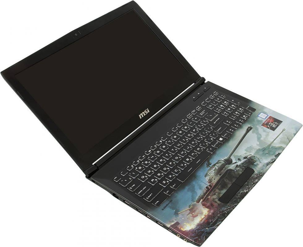 """Ноутбук 15.6"""" MSI GP62M 7RDX(WOT Edition)-2097XRU (9S7-16J9E2-2097) черный - фото 7"""