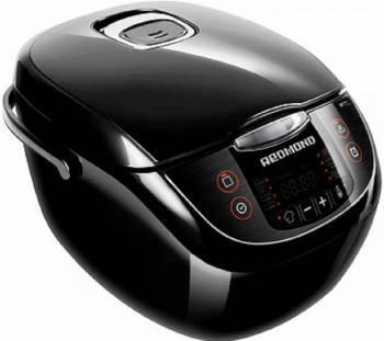 Мультиварка Redmond RMC-M28 черный/серебристый, мощность 860Вт, объем чаши 5л, покрытие чаши антипригарное покрытие Daikin