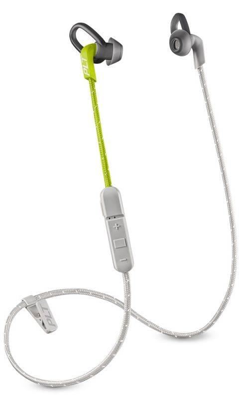 Гарнитура Plantronics BackBeat Fit 305 серый/лайм - фото 1