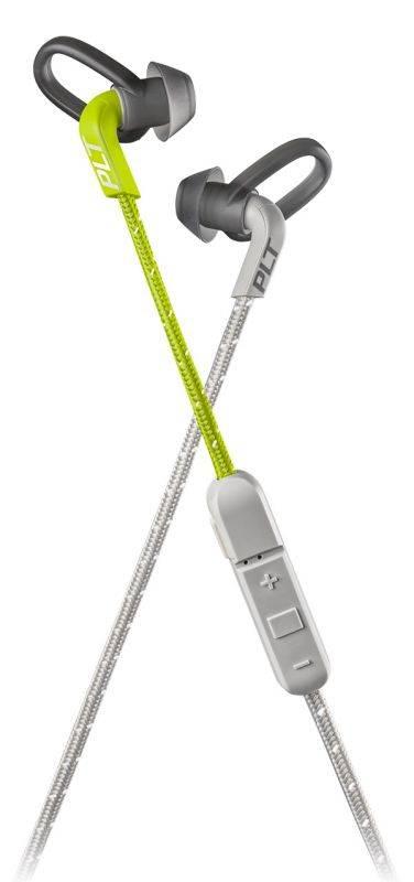 Гарнитура Plantronics BackBeat Fit 305 серый/лайм - фото 2