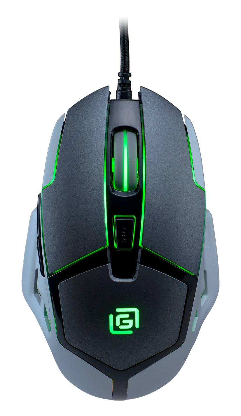 Мышь Oklick 915G HELLWISH V2 черный/серебристый - фото 1