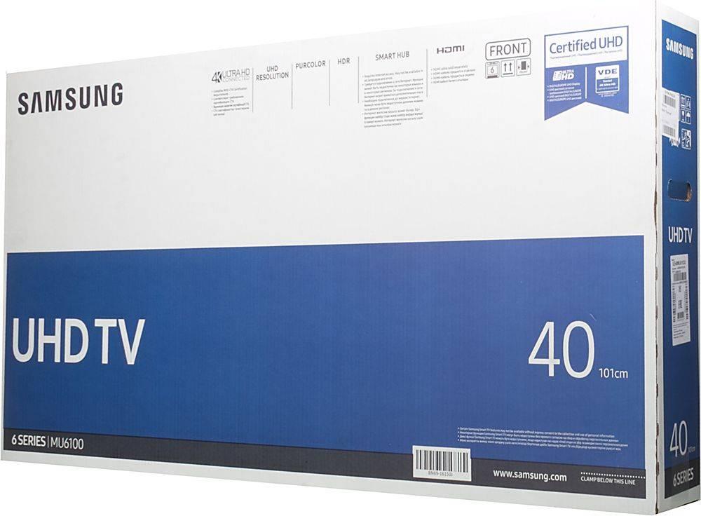 """Телевизор LED 40"""" Samsung UE40MU6103UXRU черный - фото 6"""