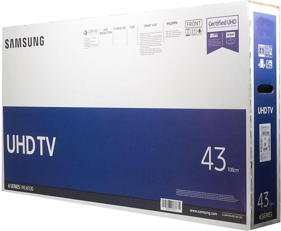 """Телевизор LED 43"""" Samsung UE43MU6103UXRU черный - фото 7"""