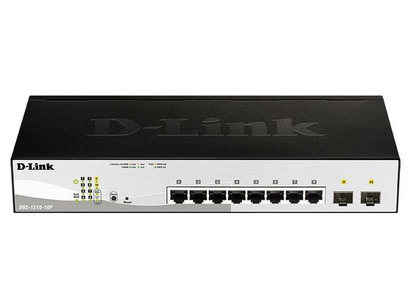Коммутатор настраиваемый D-Link DGS-1210-10P/F1A - фото 1
