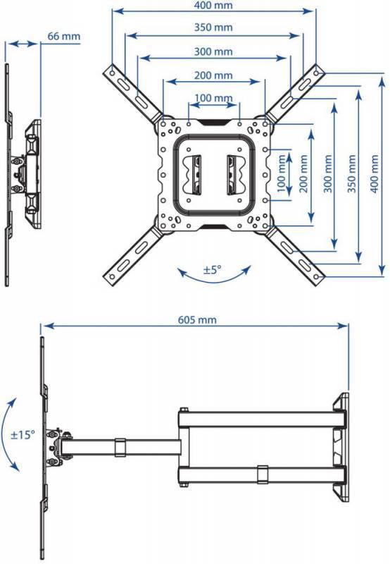 Кронштейн для телевизора Kromax DIX-18 белый (20225) - фото 2