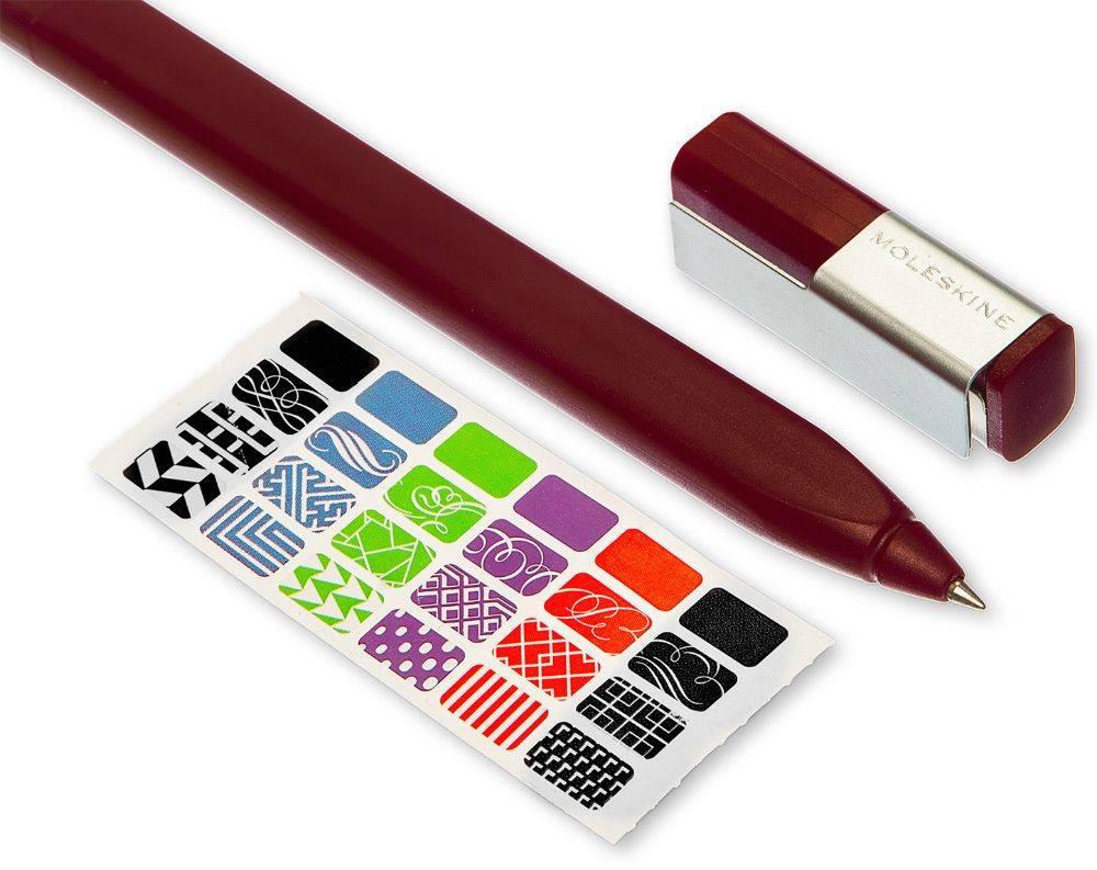 Ручка-роллер Moleskine CLASSIC PLUS бордовый (EW51RF707) - фото 4