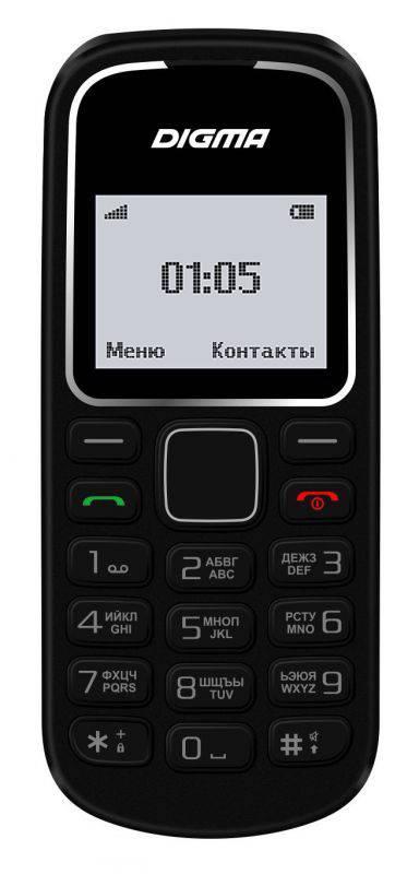 Мобильный телефон Digma A105 2G Linx черный (LT1035PM) - фото 1