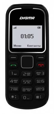 Мобильный телефон Digma A105 2G Linx черный (LT1035PM)