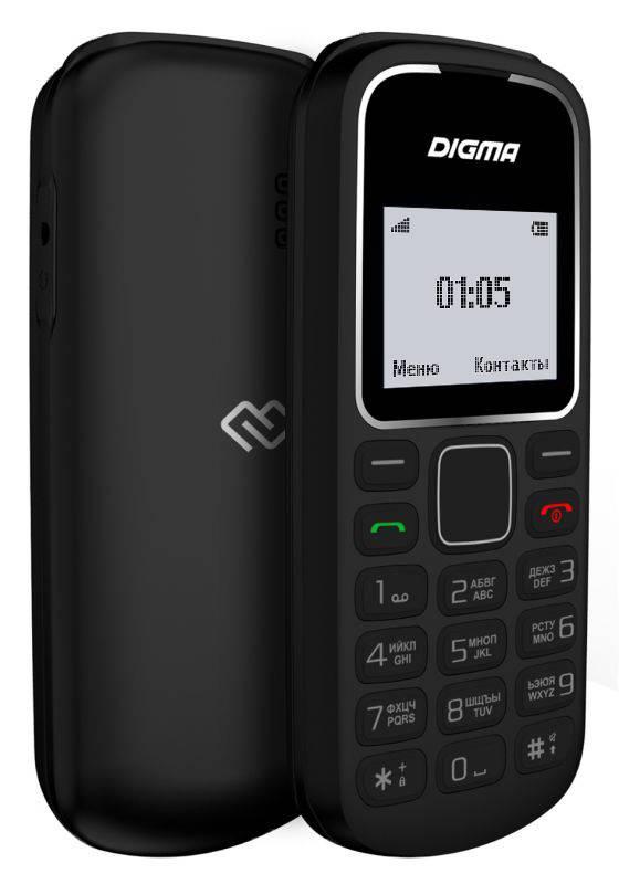 Мобильный телефон Digma A105 2G Linx черный (LT1035PM) - фото 3