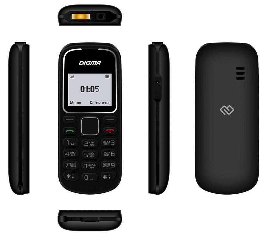 Мобильный телефон Digma A105 2G Linx черный (LT1035PM) - фото 5
