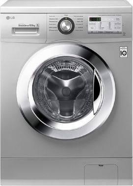 Стиральная машина LG FH2H3WD4, серебристый корпус, хром люк, фронтальная загрузка до 6.5кг, максимальная скорость отжима 1200об/мин