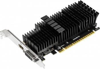 Видеокарта Gigabyte GV-N710D5SL-2GL, процессор nVidia GeForce GT 710 954 МГц, объем видеопамяти 2048 Мб 64 бит GDDR5 5010 МГц, интерфейс PCI-E, разъёмы DVIx1/HDMIx1, поддержка HDCP, low profile, Ret