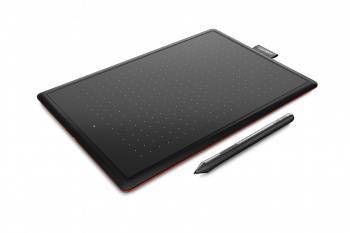 Графический планшет Wacom One CTL-472 черный / красный