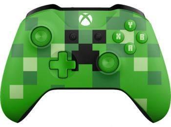 Геймпад Беспроводной Microsoft Minecraft Creeper зеленый (WL3-00057)