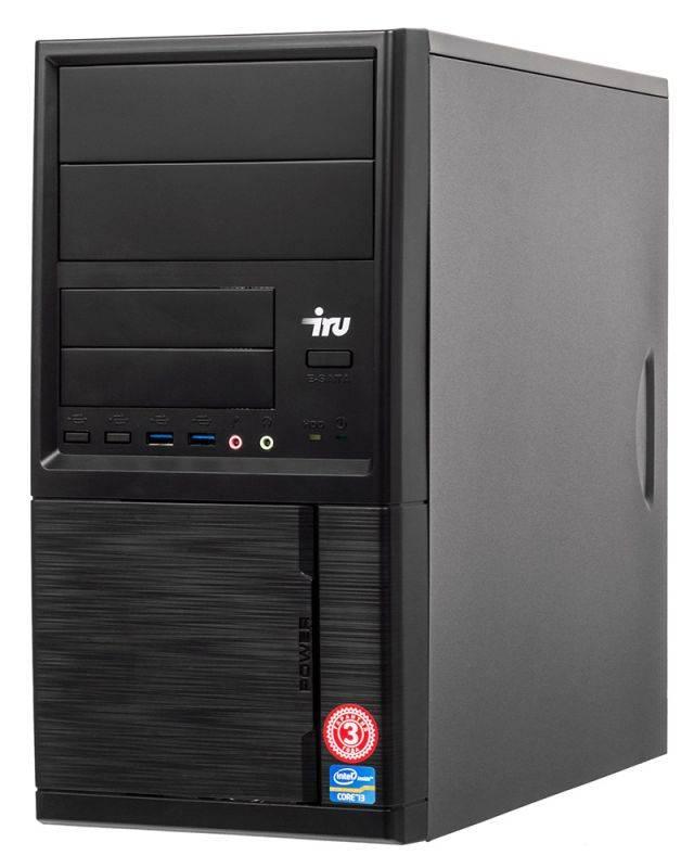 Системный блок IRU Office 313 черный (1005802) - фото 1