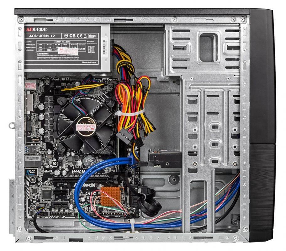 Системный блок IRU Office 313 черный (1005802) - фото 9