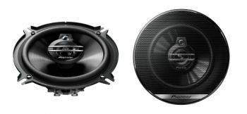 Колонки автомобильные Pioneer TS-G1330F, размер динамика 13 см (5 дюйм.), коаксиальные, трехполосные, импеданс 4Ом