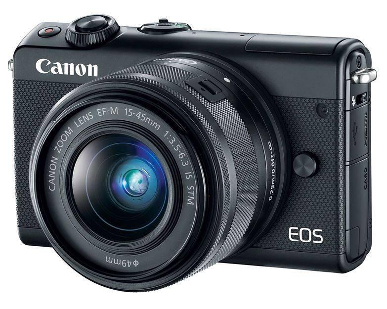 Фотоаппарат Canon EOS M100 kit черный (2209C012) - фото 1