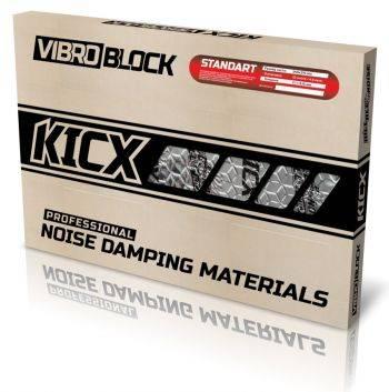 Мастичная виброизоляция Kicx Vibroblock Standart (компл.:23шт) 540x370x2.1мм (2081003Y)