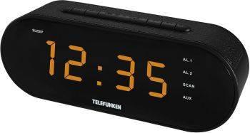 Радиоприемник Telefunken TF-1573 черный (TF-1573(ЧЕРНЫЙ С ЯНТАРНЫМ))
