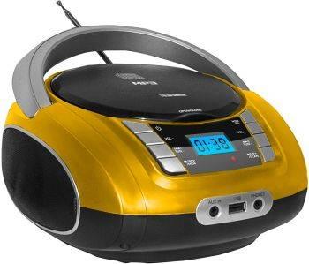 Магнитола Telefunken TF-CSRP3448 желтый
