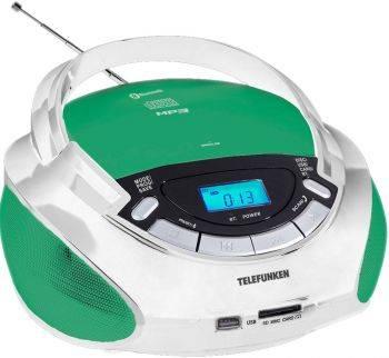 Магнитола Telefunken TF-CSRP3492B белый (TF-CSRP3492B(ЗЕЛЁНЫЙ С БЕЛЫМ))