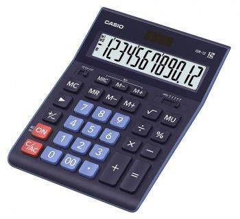Калькулятор настольный Casio GR-12BU темно-синий (GR-12-BU-W-EP)