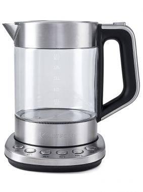 Чайник электрический Kitfort КТ-616 серебристый / черный