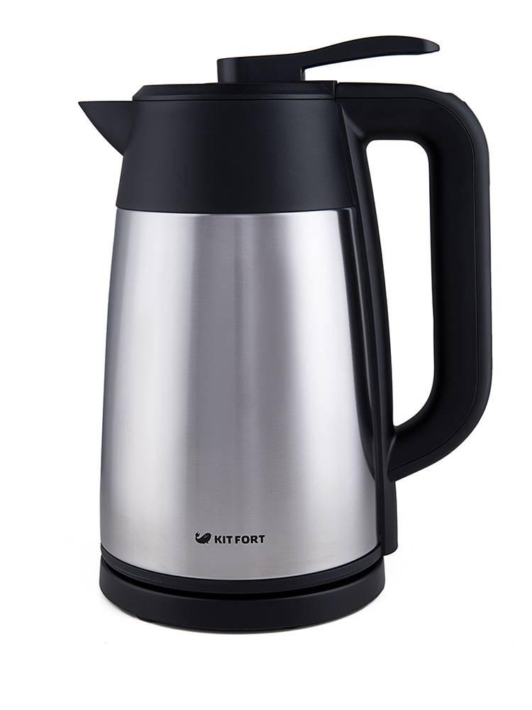 Чайник электрический Kitfort КТ-620-2 серебристый/черный - фото 1