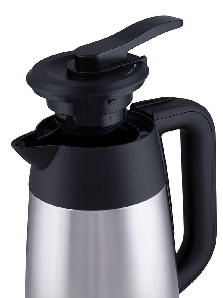 Чайник электрический Kitfort КТ-620-2 серебристый/черный - фото 5