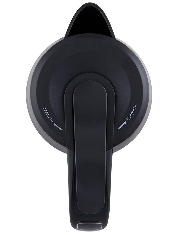Чайник электрический Kitfort КТ-620-2 серебристый/черный - фото 6