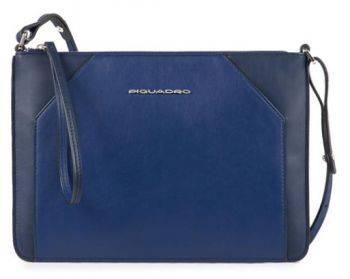 Клатч женский Piquadro Muse AC4329MUS / BLU синий натур.кожа