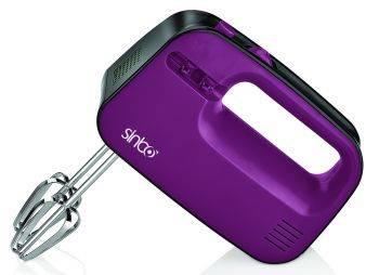 Миксер ручной Sinbo SMX 2745 фиолетовый, мощность 300Вт, скоростей работы 3