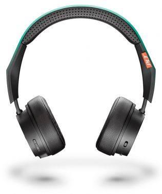 Гарнитура Plantronics BackBeat Fit 500 черный/зеленый, накладные, крепление оголовье, беспроводные bluetooth