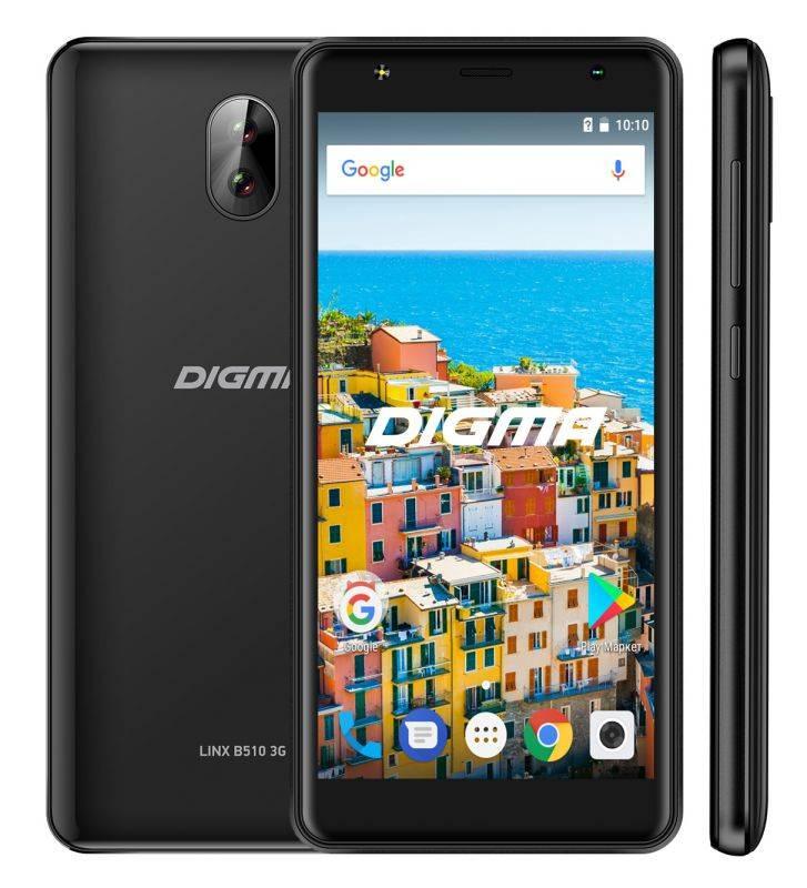 Смартфон Digma B510 3G LINX 16ГБ черный (LT5037MG) - фото 3