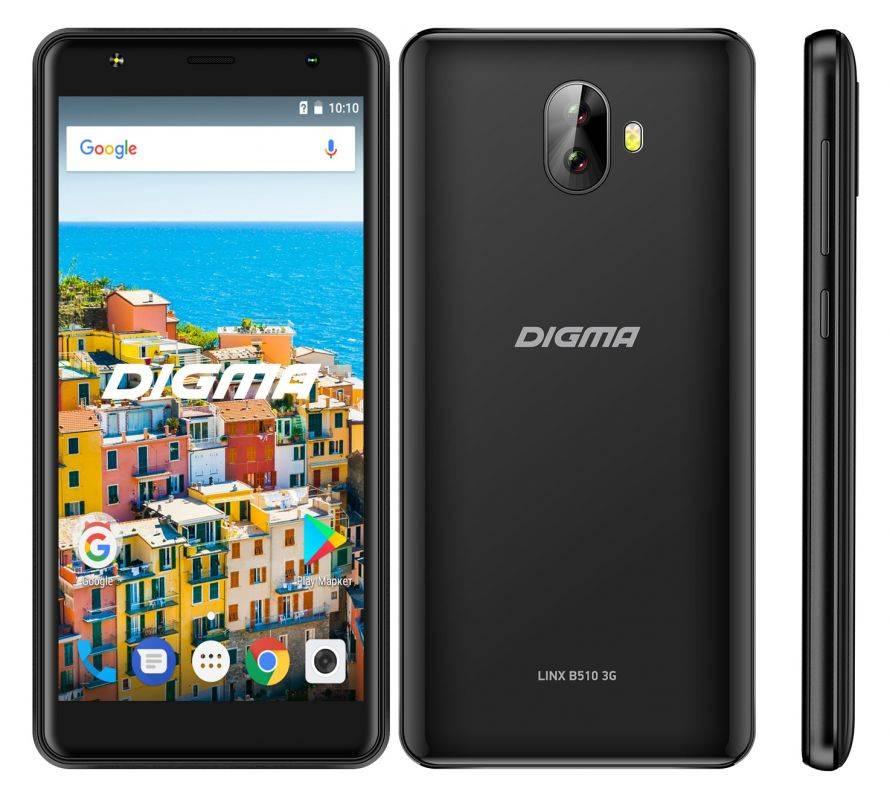 Смартфон Digma B510 3G LINX 16ГБ черный (LT5037MG) - фото 4