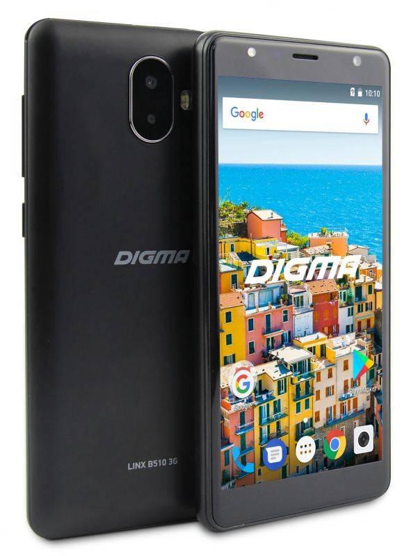 Смартфон Digma B510 3G LINX 16ГБ черный (LT5037MG) - фото 6