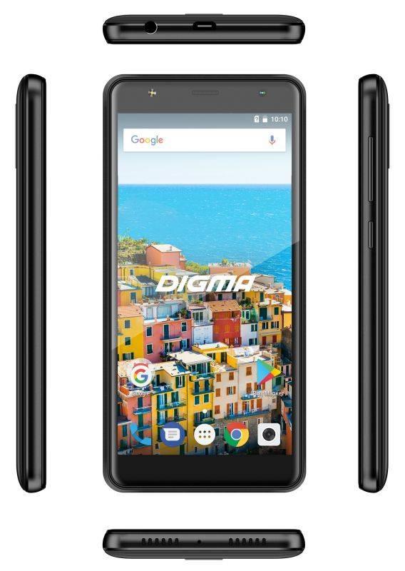 Смартфон Digma B510 3G LINX 16ГБ черный (LT5037MG) - фото 7