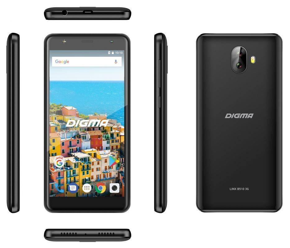 Смартфон Digma B510 3G LINX 16ГБ черный (LT5037MG) - фото 8
