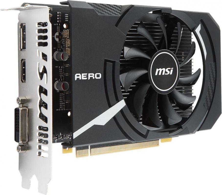 Видеокарта MSI GTX 1050 AERO ITX 2G OCV1 2048 МБ - фото 1