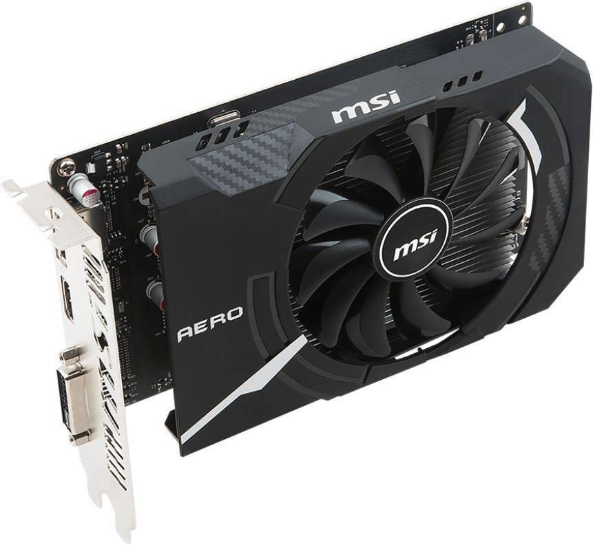 Видеокарта MSI GTX 1050 AERO ITX 2G OCV1 2048 МБ - фото 3