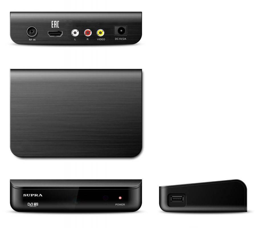 Ресивер DVB-T2 Supra SDT-89 черный - фото 2