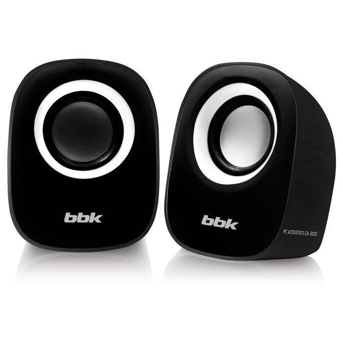 Колонки BBK CA-303S черный/белый 2.0 - фото 1