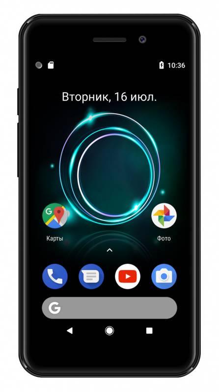 Смартфон Digma A453 3G Linx 8ГБ черный (LT4038PG) - фото 2