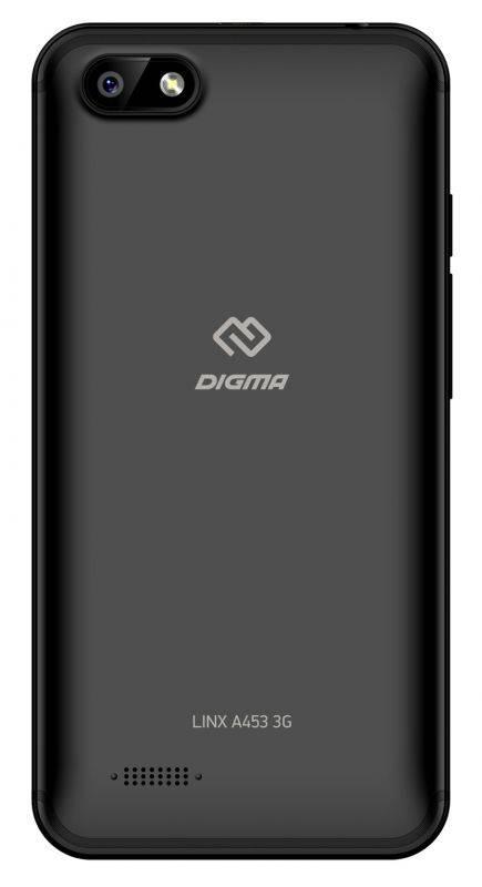 Смартфон Digma A453 3G Linx 8ГБ черный - фото 3