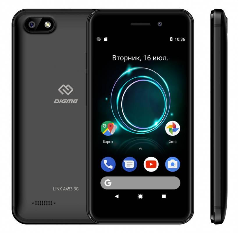 Смартфон Digma A453 3G Linx 8ГБ черный - фото 4